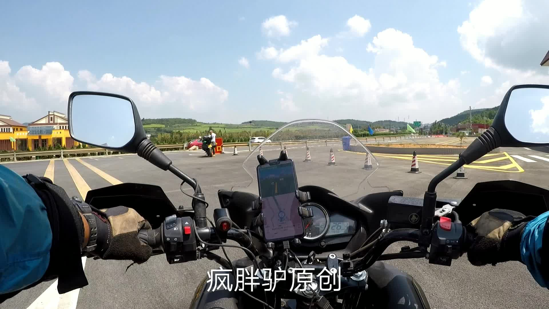 摩旅~云南高速服务区偶遇川崎650,身高169的骑士能轻松驾驭