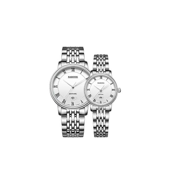 雷诺(RARONE)手表追梦系列机械情侣款白面黑钉钢带86701389010100优惠券