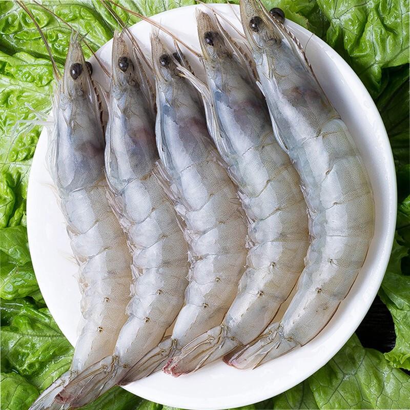 连云港发货 海洋大虾  冷冻生南美白虾 1盒