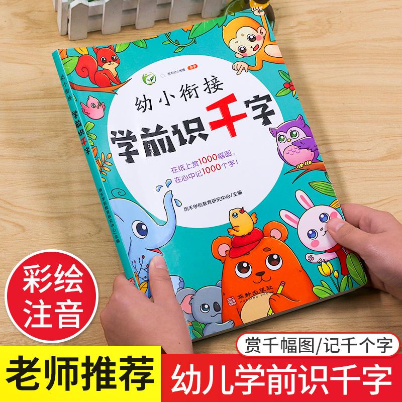 幼小链接学前识千字书籍幼小启蒙教育2-6周岁宝宝