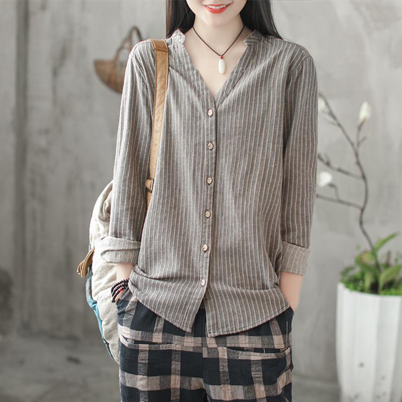 优雅大气的衬衫打底衫,版型洋气显瘦,让70后穿出时髦年轻气质