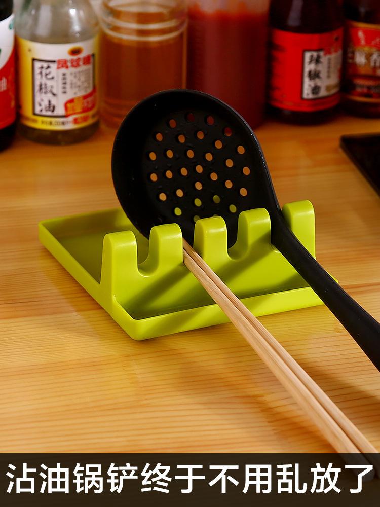 【金凌】厨房收纳架锅铲架托汤勺垫筷子锅盖收纳家用多功能