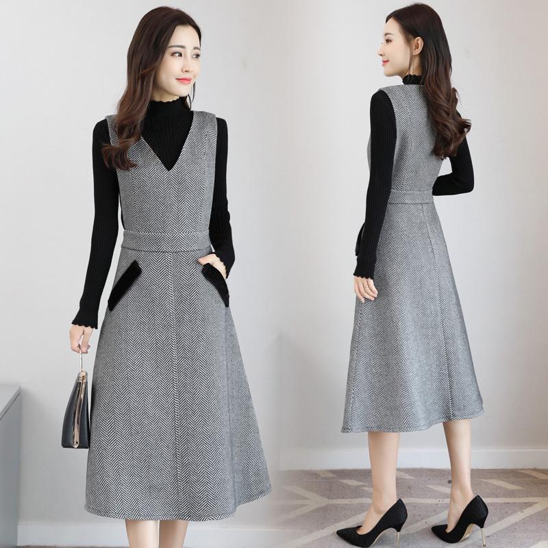 五六十岁女人,穿嫩点!建议穿这套装裙,年轻美到心坎上