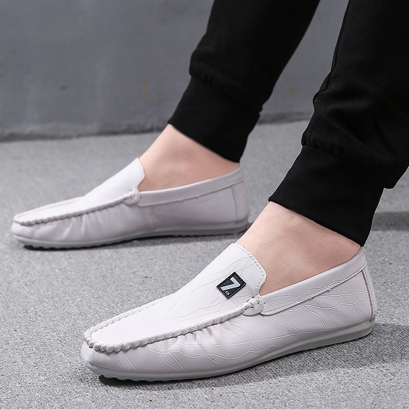 秋季新款韩版潮流百搭男士休闲鞋懒人豆豆鞋优惠券