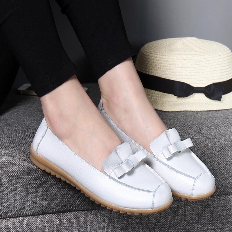 妈妈鞋秋季新款舒适平底浅口豆豆鞋优惠券