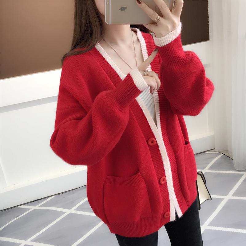 新款毛衣女开衫中长款外套优惠券