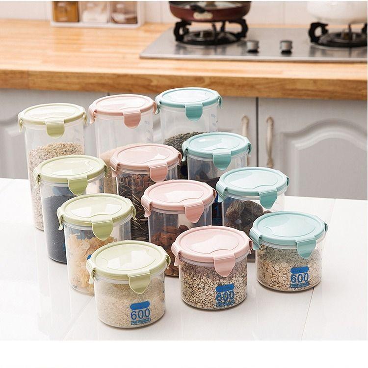厨房塑料保鲜密封罐奶粉罐五谷杂粮储物罐子家居零食食品收纳盒