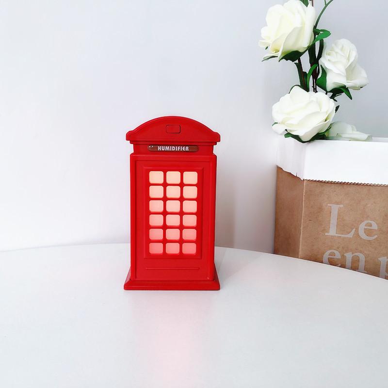 ❤英伦风电话亭usb加湿器静音家用湿器-优惠券