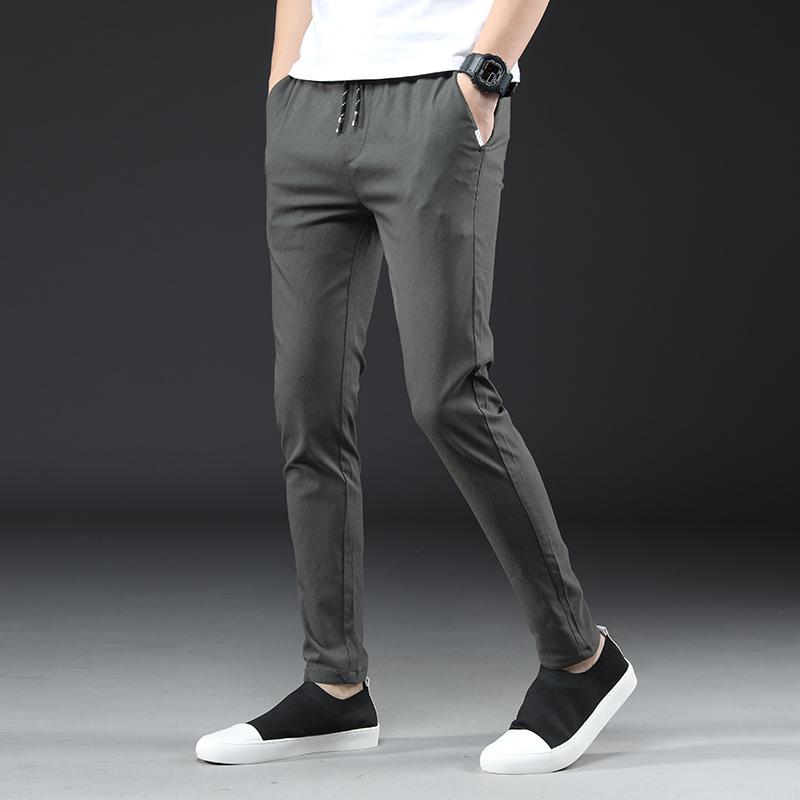 春夏季薄款男士修身小脚休闲裤优惠券