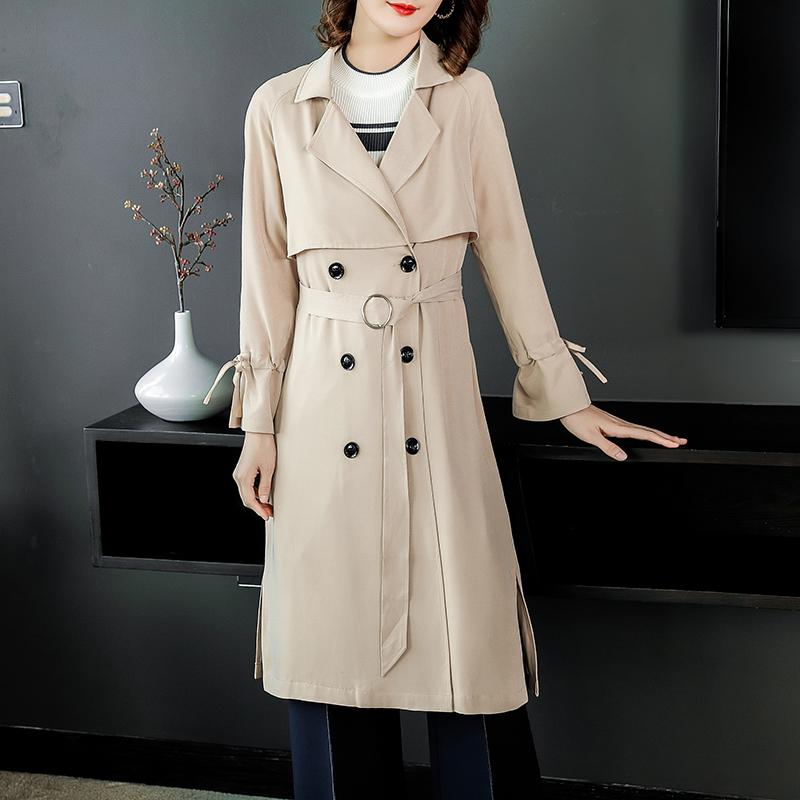 韩版2018新款OL白领女式双排扣直筒优惠券