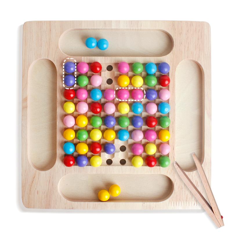 彩虹消消乐亲子互动桌游儿童对对碰专注力逻辑思维训练益智游戏
