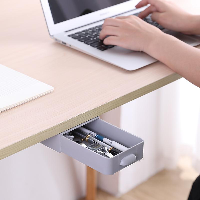 【欣欣限时分享】课桌下粘贴抽屉式收纳笔盒