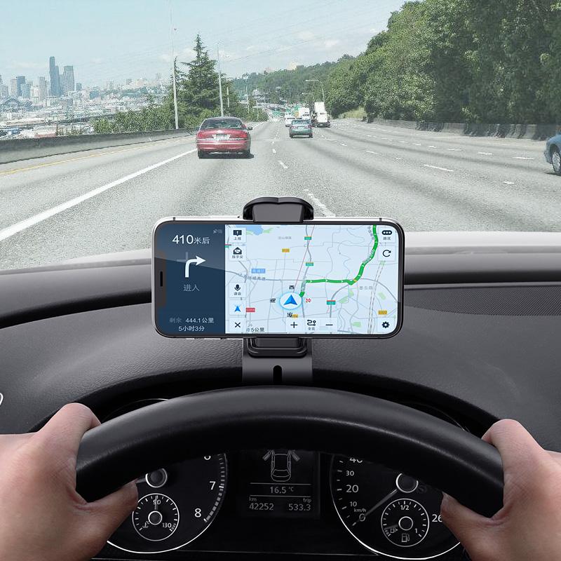 汽车仪表台卡扣式导航支架 车用手机架手机优惠券
