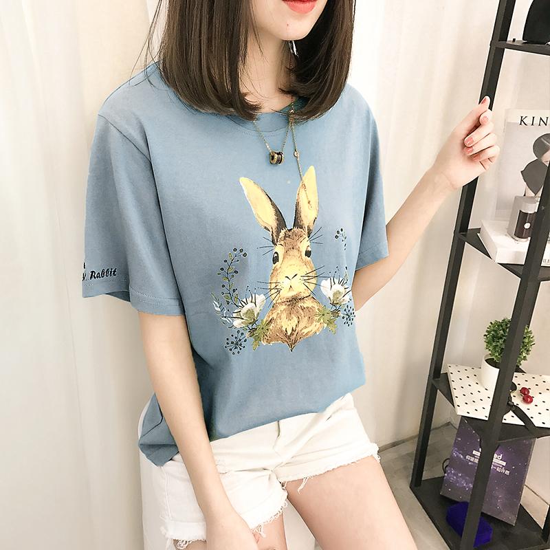 2018新款纯棉卡通印花学生短袖T恤女优惠券