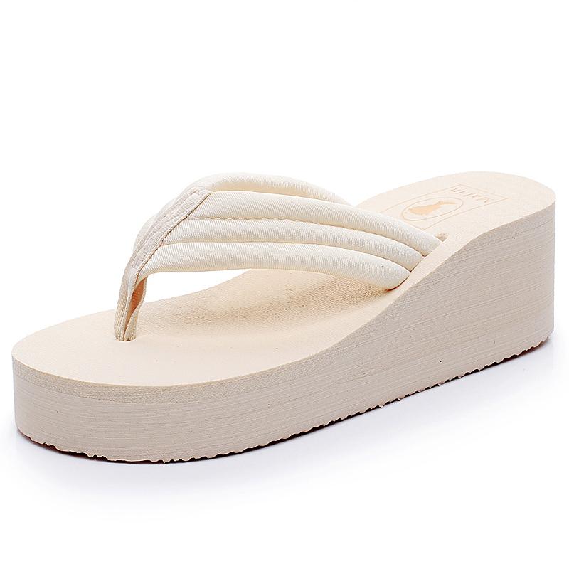 松糕厚底拖鞋女夏时尚坡跟软底凉拖鞋优惠券