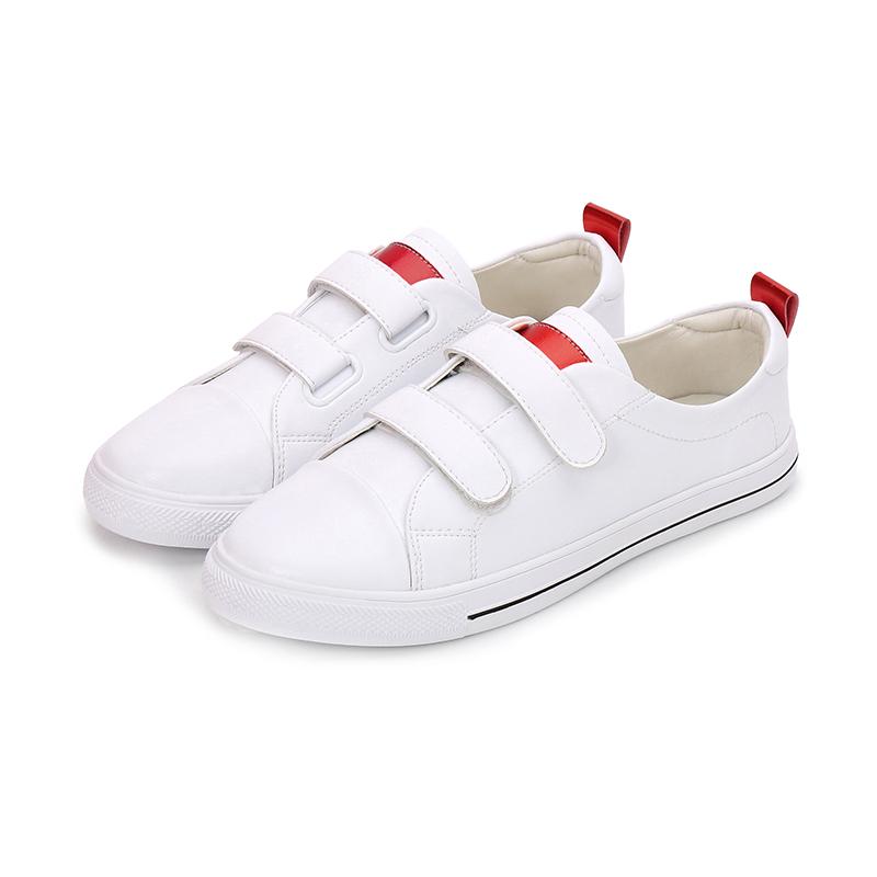 魔术贴小白鞋女韩版平底百搭板鞋女优惠券
