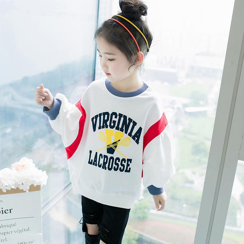 新款大童运动中长款T恤韩版套头上衣优惠券