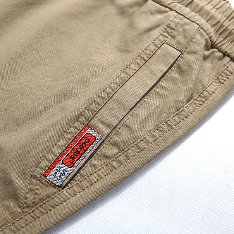 男士宽松大码多口袋舒适工装七分裤纯棉四色优惠券