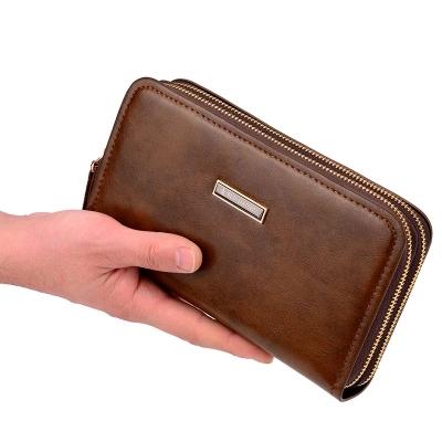 【男人必备手拿包】双拉链商务手机包钱包优惠券