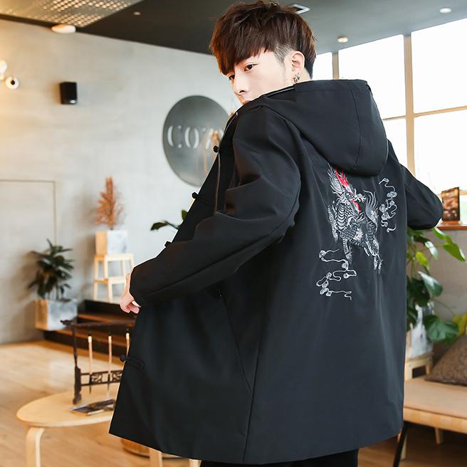 【麒麟刺绣】中国风气质大码男装夹克外套优惠券