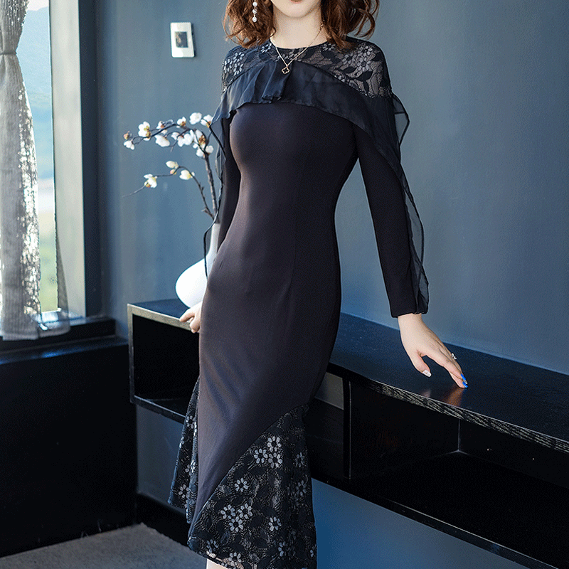 蕾丝连衣裙名媛连衣裙优惠券