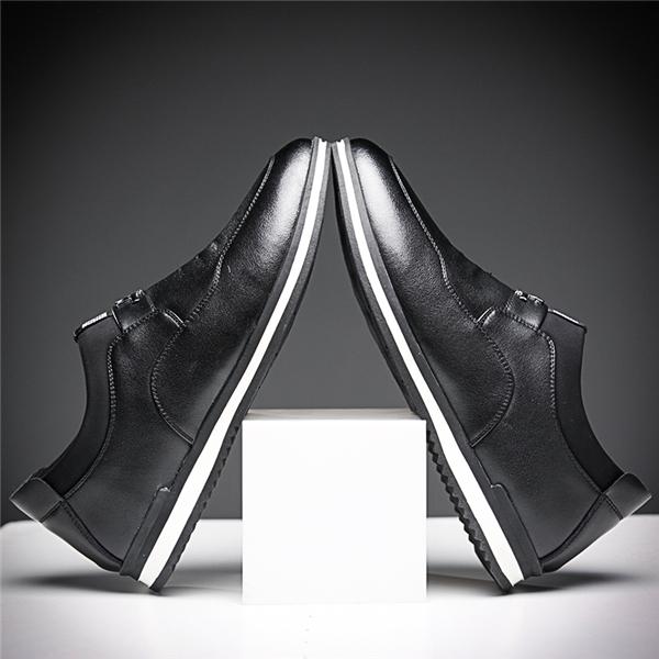男士头层牛皮内增高休闲皮鞋优惠券