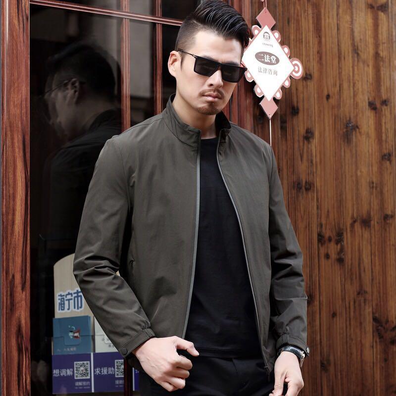 衣服是男人的面子,早秋新款休闲夹克,比皮衣西装帅,男人感爆棚