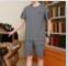 短袖+ 短裤夏季中老年男士套装优惠券