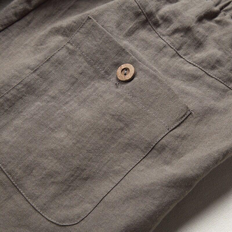 春夏新款中国风男装亚麻男士休闲裤直筒裤优惠券