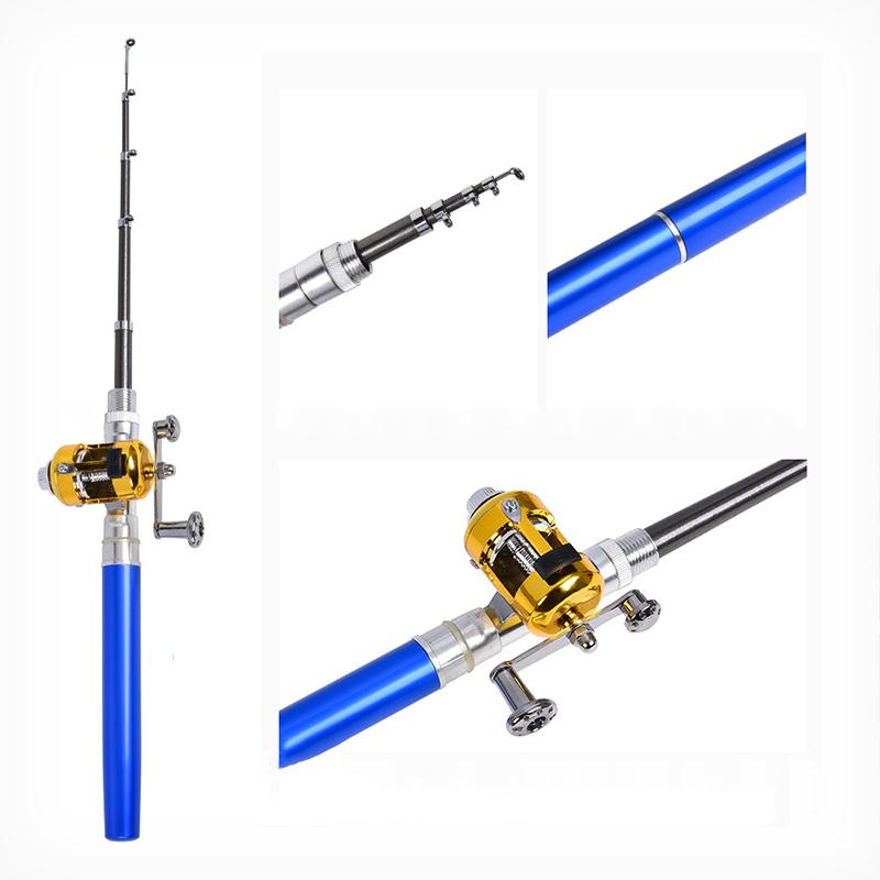 钢笔式鱼竿鼓轮两件套便携式口袋冰钓竿海竿优惠券