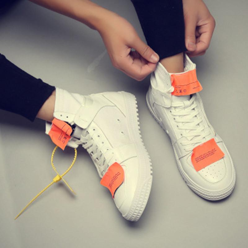 高帮鞋夏季白色嘻哈鞋子韩版潮流街舞鞋优惠券