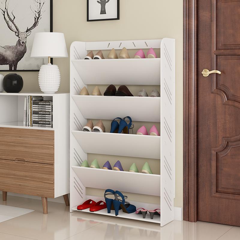 简易鞋架家用多层鞋柜客厅简约欧式雕花经济