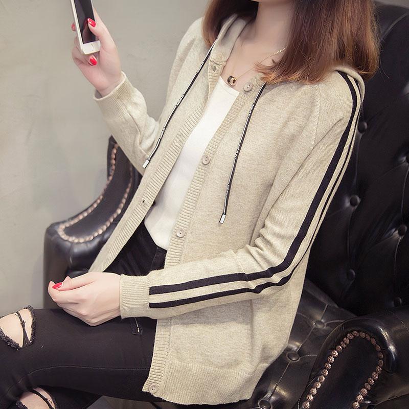 秋季新款女装韩版时尚连帽卫衣毛衣外套优惠券