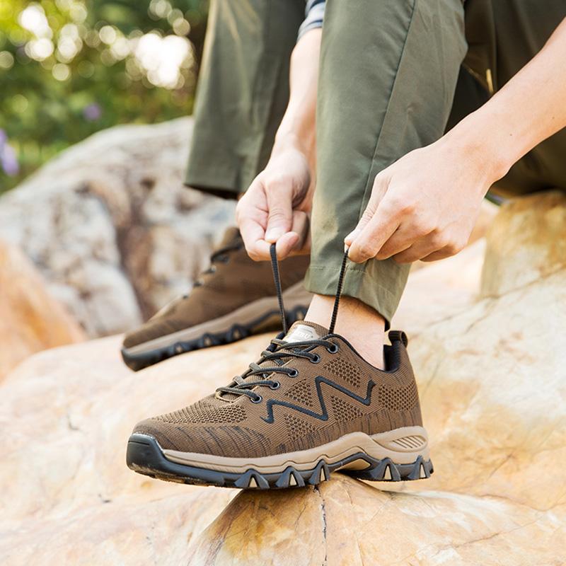 爸爸每天晨练,我给买了一双登山鞋,每天早上都去爬上去了