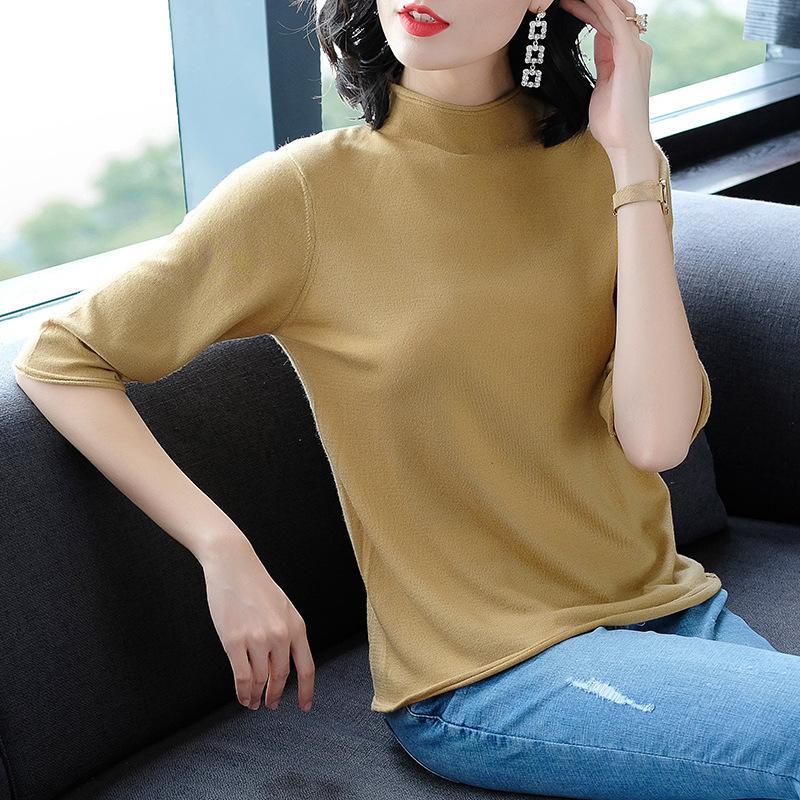 换季换新衣,打底衫也要换新款,百搭显瘦,尤其适合微胖女人
