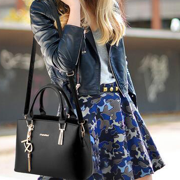 韩版春季新款简约时尚手提包潮流单肩斜跨杀优惠券