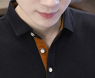 【秋爆款】彩袖上衣时尚翻领男装POLO衫优惠券