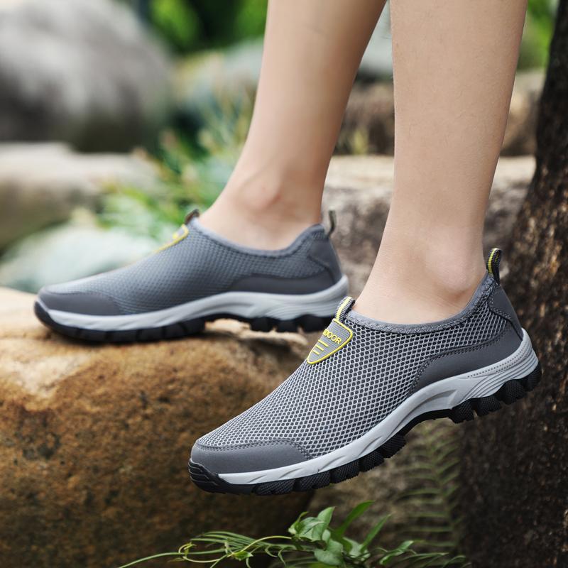 夏季一脚蹬户外运动鞋透气网鞋健步鞋旅游鞋优惠券