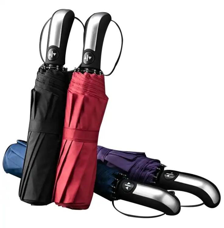 【单手开收】大号10骨全自动雨伞折叠伞晴雨伞 双人男女式伞