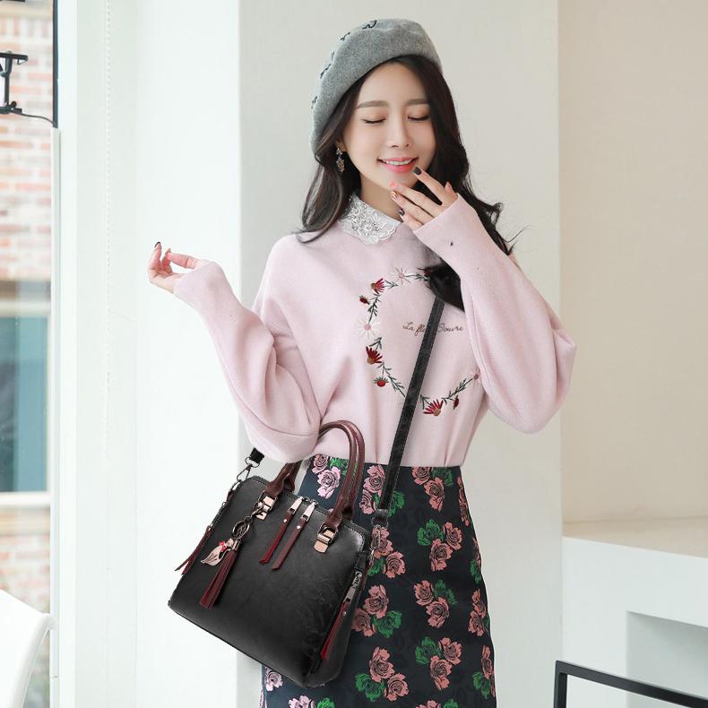 女士包包新款潮韩版时尚百搭手提包简约单肩优惠券