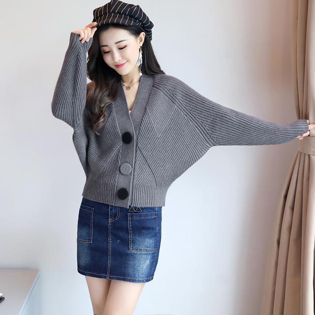 三粒扣潮流气质针织开衫,秋季针织毛衣优惠券
