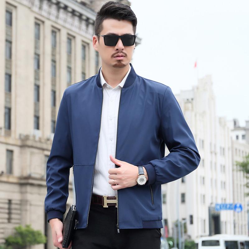 【型男夹克】男装商务休闲修身中老年棒球服优惠券