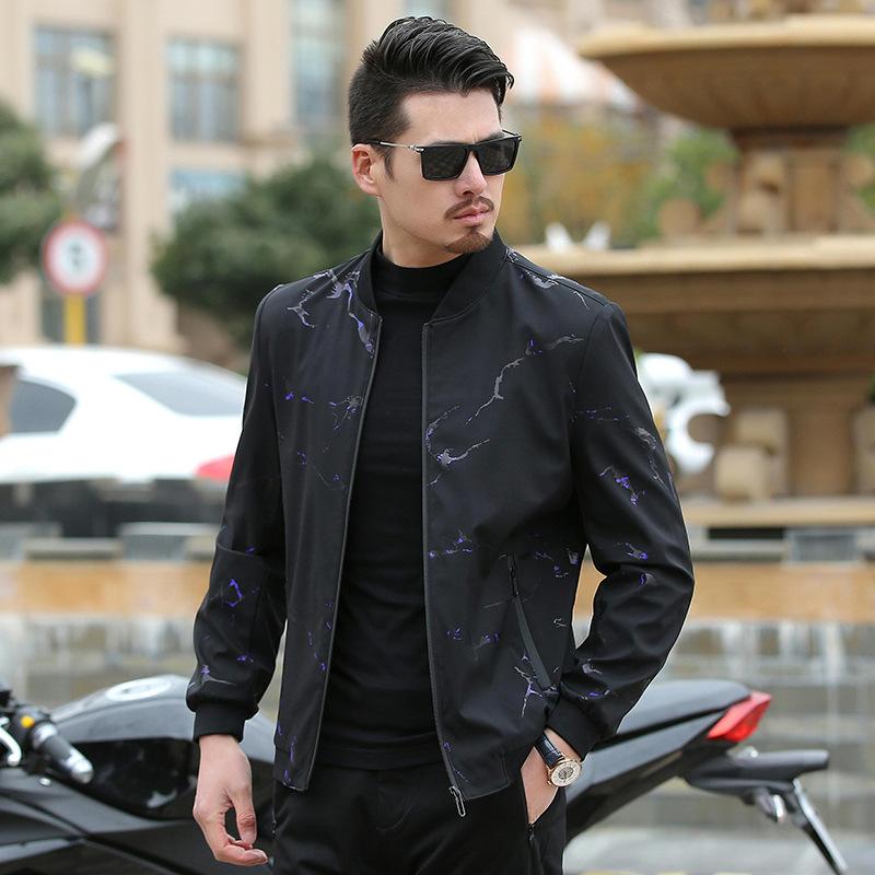 新款夹克商务男装休闲韩版中年男式外套男装优惠券