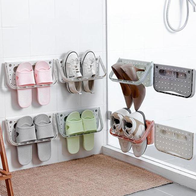 浴室拖鞋架 家用粘贴鞋子收纳架优惠券