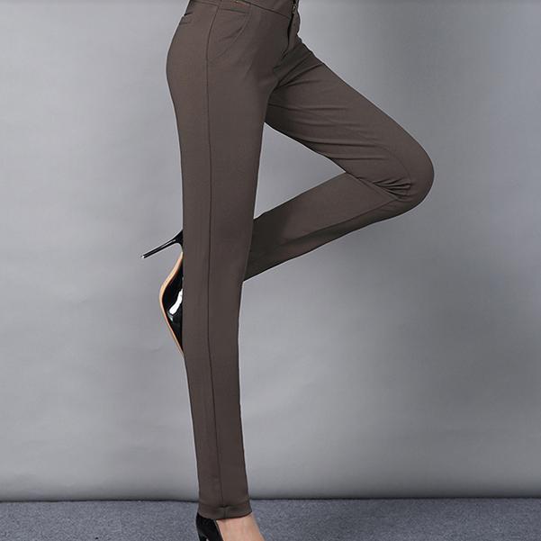 宽松休闲裤中老年直筒高腰弹力长裤优惠券