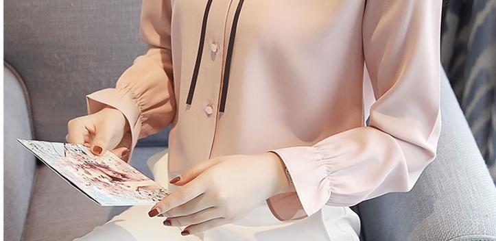 秋装新款长袖女雪纺衫优惠券