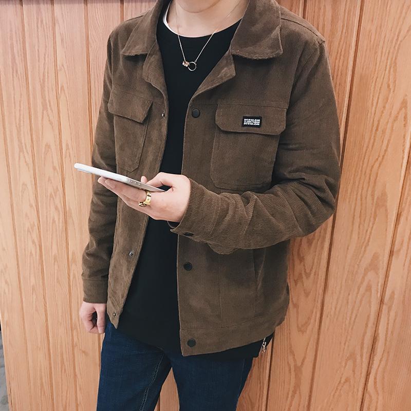【灯芯绒】春秋季男士休闲夹克外套优惠券