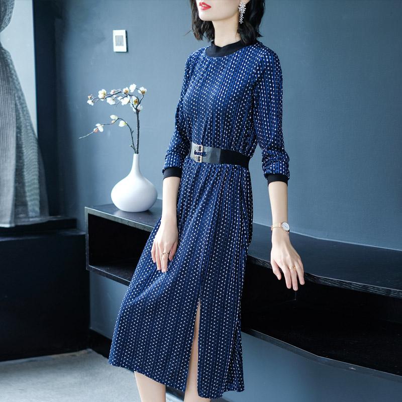 2018早秋季新款长袖修身显瘦中长款裙优惠券