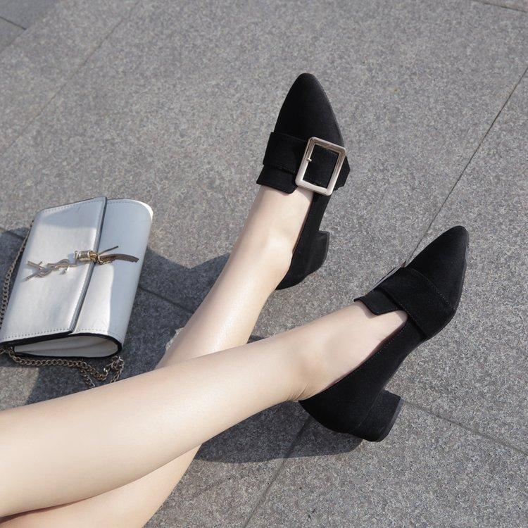 平跟浅口单鞋豆豆鞋尖头平底鞋优惠券