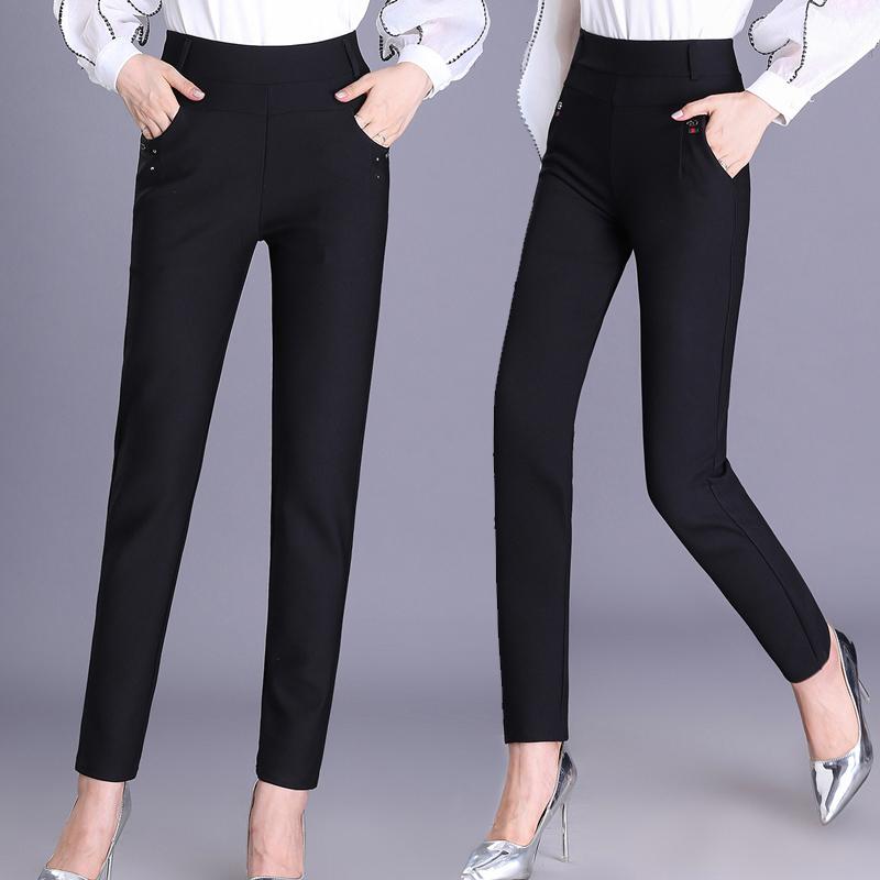 高腰中年妈妈装打底裤外穿小脚长裤子优惠券